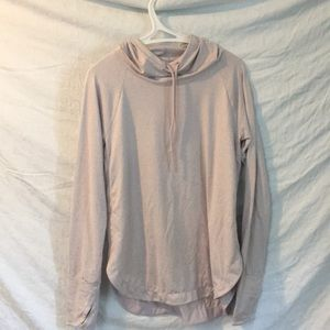 Pale pink/purple athletic hoodie